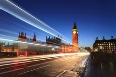 Big Ben und Parlamentsgebäude in der Dämmerung, London, Großbritannien Lizenzfreies Stockfoto