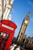 Big Ben und roter Telefon-Stand Lizenzfreie Stockfotos