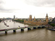 Big Ben und Themse-Fluss Stockfoto