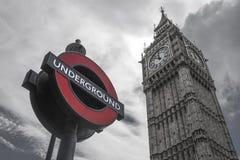 Big Ben und Untertage Stockbilder