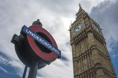 Big Ben und Untertage Lizenzfreies Stockbild