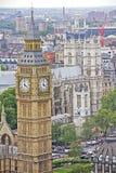 Big Ben und Westminster Abbey Stockfotos