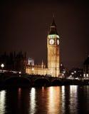 Big Ben und Westminster-Brücke stockbilder