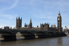 Big Ben und Westminster in London Stockfotos