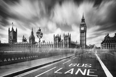 The Big Ben under cloudy sky Stock Photos