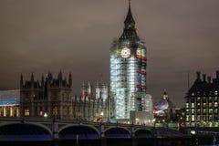 Big Ben under construction, London. UK Stock Images