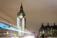 Big Ben under construction, London. UK Stock Photography