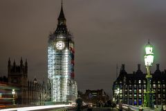 Big Ben under construction, London. UK Royalty Free Stock Photos