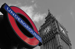 Big Ben and Underground Royalty Free Stock Photos