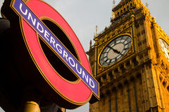 Big Ben Underground Stock Photo