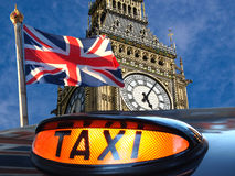 Big Ben and Union Jack Royalty Free Stock Images