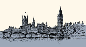 Big Ben. Vector drawing Royalty Free Stock Images