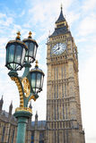 Big Ben view with ancient street lamp in London Stock Photo