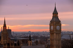 Big ben view from london eye Royalty Free Stock Photos