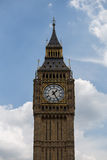Big-Ben. View on Big-Ben with sky and cloud Royalty Free Stock Image