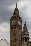 Big-Ben. View on Big-Ben with sky and cloud Royalty Free Stock Images