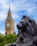 Big Ben Viewed from Trafalgar Square, London royalty free stock image