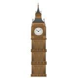 Big Ben-vormdocument kunst op wit wordt geïsoleerd dat Royalty-vrije Stock Afbeeldingen