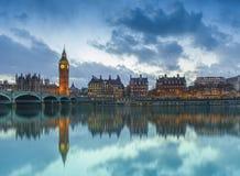 Big Ben w Londyńskim mieście, Zjednoczone Królestwo zdjęcia stock