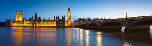 Big Ben, Westminister, domy parlament, Londyn Fotografia Stock