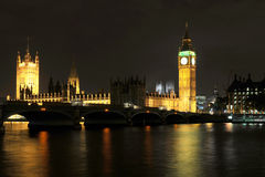 Big Ben and Westminster Stock Image