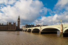 Big Ben and Westminster Abbey Royalty Free Stock Photography
