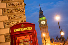 Big Ben and Westminster abbey in London, England Royalty Free Stock Images