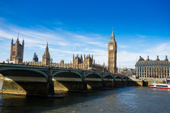Big Ben and Westminster abbey in London, England Royalty Free Stock Photos