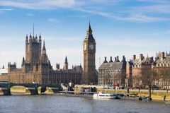 Big Ben and Westminster abbey, London, England Royalty Free Stock Photo