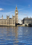 Big Ben and Westminster abbey, London, England Royalty Free Stock Photos