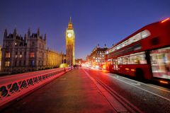 Big Ben and Westminster abbey in London, England royalty free stock photo