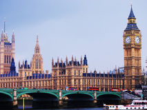 Big Ben and Westminster Abbey, London Stock Photography