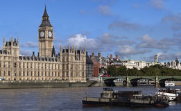 Big Ben and westminster bridge Royalty Free Stock Images