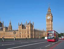 Big Ben and Westminster Bridge Royalty Free Stock Image