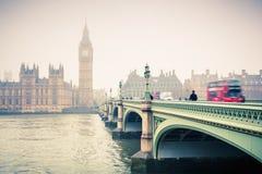 Big Ben and westminster bridge Stock Image