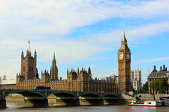 Big ben, westminster bridge and houses of parliament in london. Most famous place in london Stock Photos