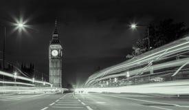 Big Ben. Westminster Bridge lights on Big Ben Royalty Free Stock Photos