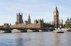 The Big Ben and Westminster bridge in London Royalty Free Stock Photography