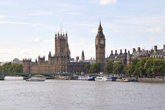 The Big Ben and Westminster bridge in London Stock Photo