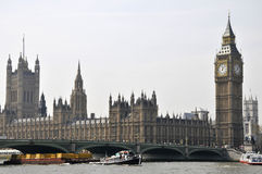 Big Ben and Westminster Bridge, London Royalty Free Stock Photo