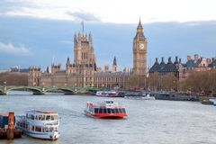 Big Ben and Westminster Bridge London Royalty Free Stock Images