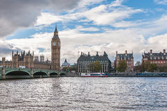 Big Ben and Westminster Bridge in London Royalty Free Stock Photography