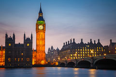 Big Ben and westminster bridge , London Royalty Free Stock Image