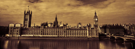 Big Ben and Westminster Bridge Stock Photography