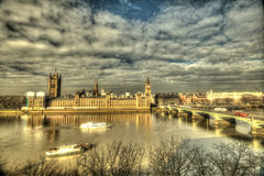 Big Ben and Westminster Bridge Royalty Free Stock Photography