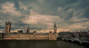Big Ben and Westminster Bridge Stock Photos