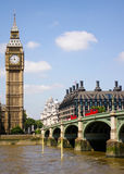 Big Ben and the Westminster Bridge, London, UK Royalty Free Stock Image