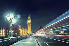 Big Ben from Westminster Bridge, London Stock Image