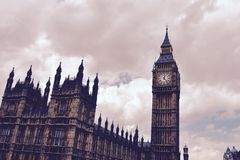 Big Ben from Westminster Bridge Stock Photo