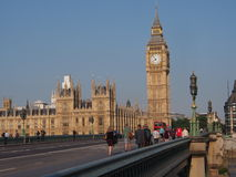 Big Ben and Westminster Bridge Stock Photos